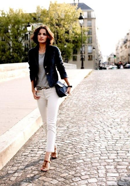 7 Ways to Wear White Jeans ... → 👗 Fashion