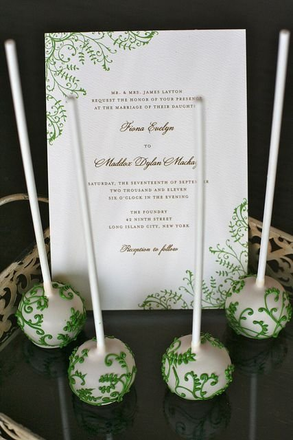 Wedding Invitation Cake Pops