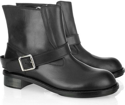 Chloe Leather Biker Boots