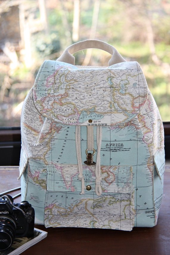 World Map Prints Backpack