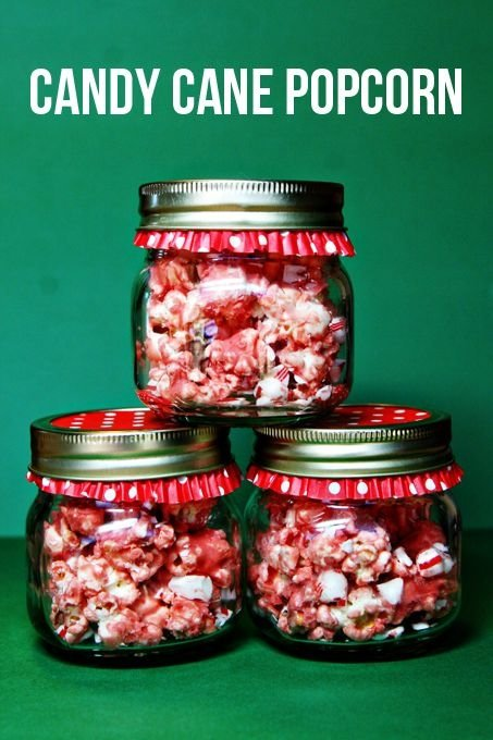 Candy Cane Butter Popcorn