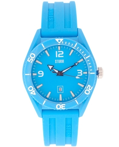 Storm Sky Blue Rubber Strap Watch 7 Bright And Bold Wrist