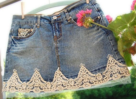 Upcycled Jean Skirt 26 Cool Ways To Customize Denim