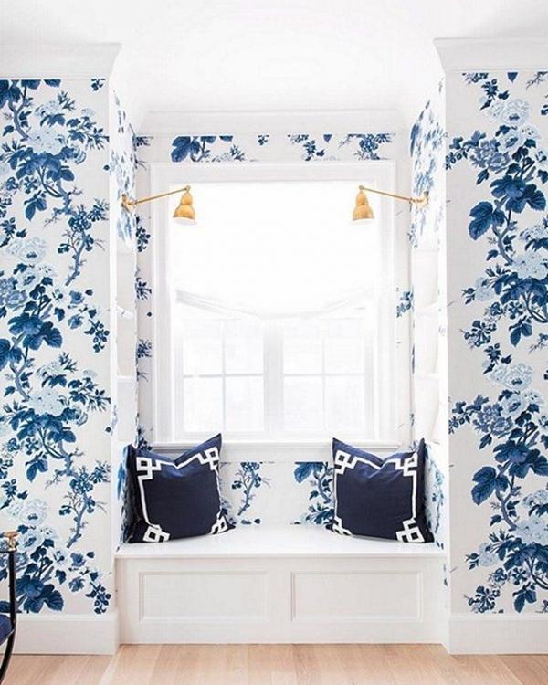 blue, room, interior design, furniture, curtain,