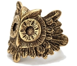 Feathered Owl Ring