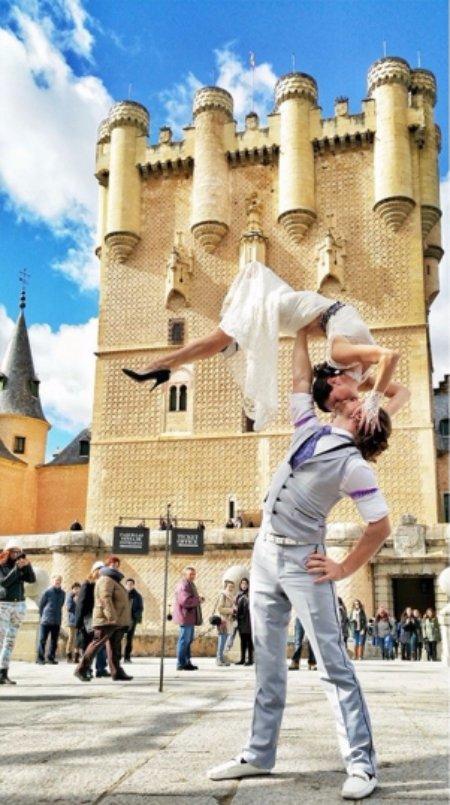 In Front of Alcazar Castle in Segovia, Spain
