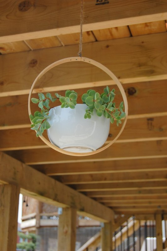 Use a Bowl and an Embroidery Hoop