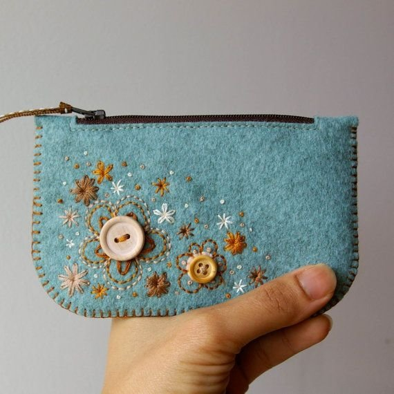 Felted wool purse 37 diy coin purses that make a fun - Manualidades para hacer en casa y vender ...