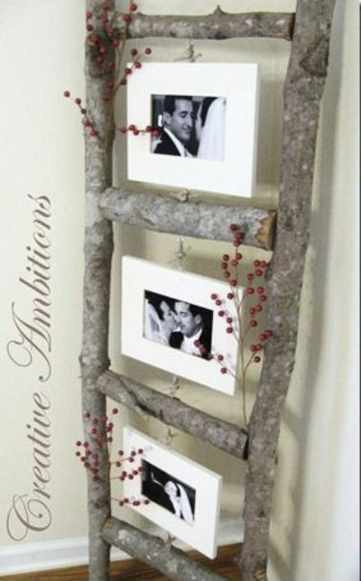 A Photo Ladder is a Cute Way to Show off Your Pictures