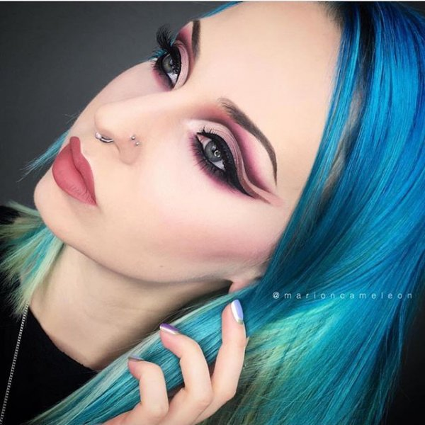 color, hair, painting, turquoise, black hair,