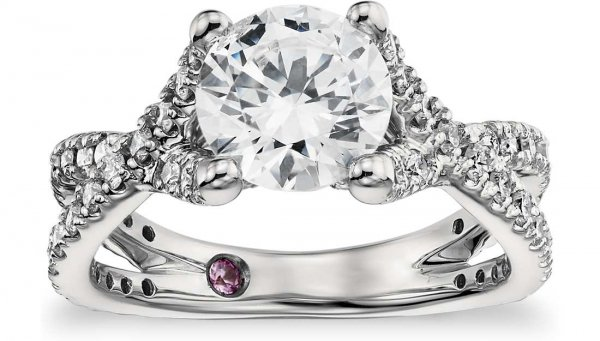 Monique Lhuillier Twist Cathedral Diamond Engagement Ring