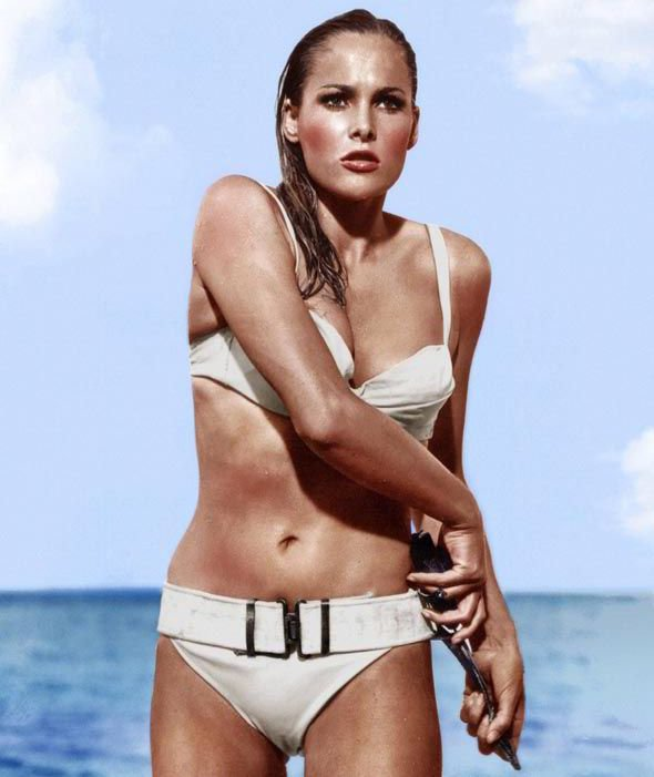 DR. NO, rsula Andress, Dr. No, Ursula Andress, 1962, clothing, barechestedness,