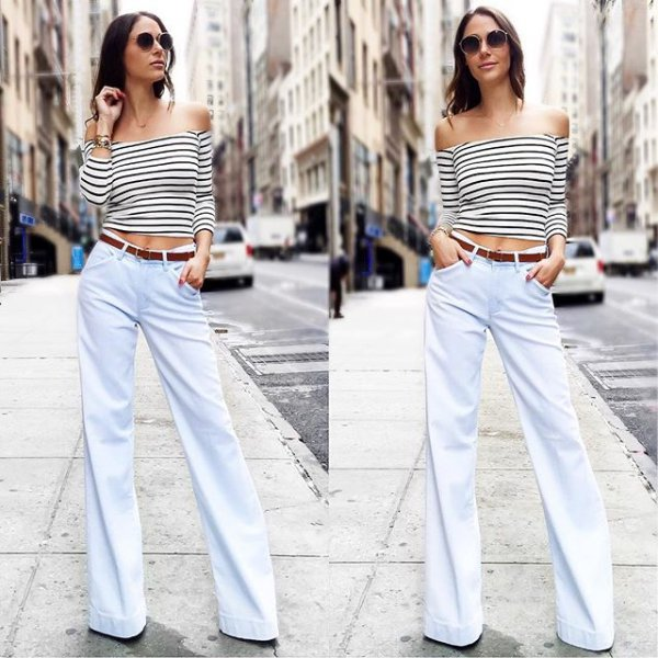 white, clothing, jeans, sleeve, spring,