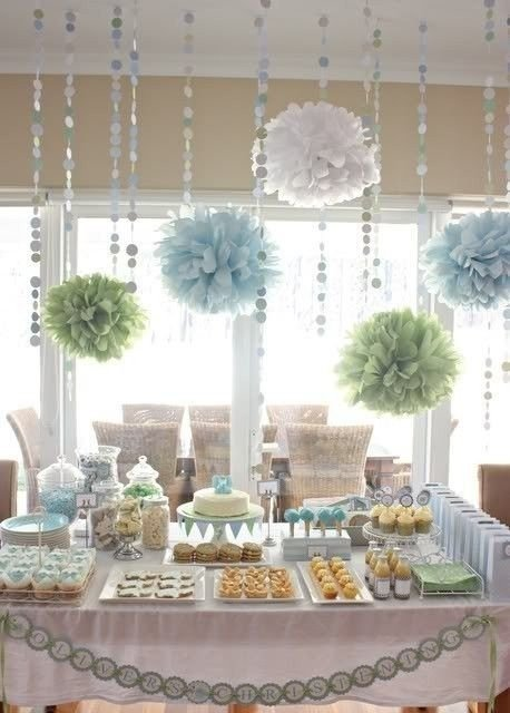 Snack Table - 27 Super Cute Baby Shower Decorations to Make Your…