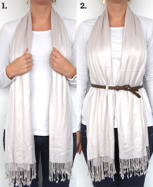 Or Just Tuck Your Scarf into Your Belt