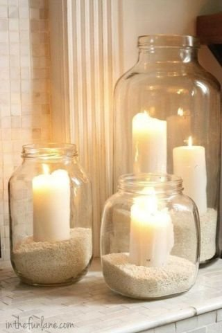 Go Easy with Sand in Jars