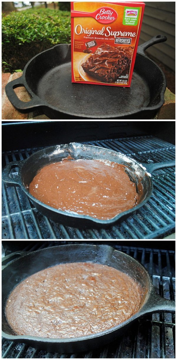 Grilled Cast Iron Skillet Brownies Make You Feel Right at Home