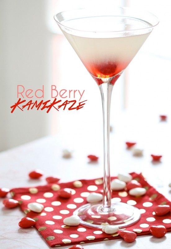 13 Red Berry Kamikaze 37 Valentine S Day Cocktails For