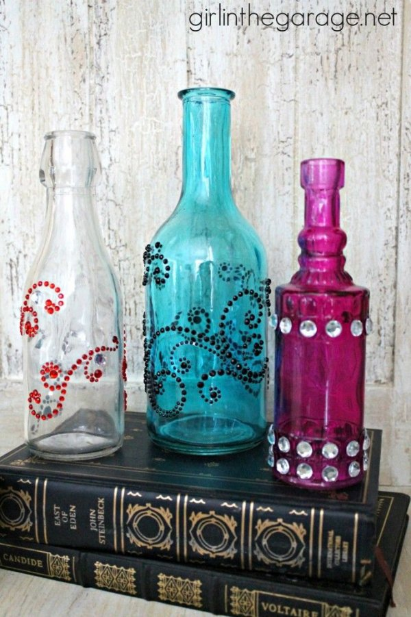 Bejeweled bottles 28 totally awesome things you can for Wine and painting mn