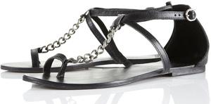 Topshop Chain T-bar Sandals