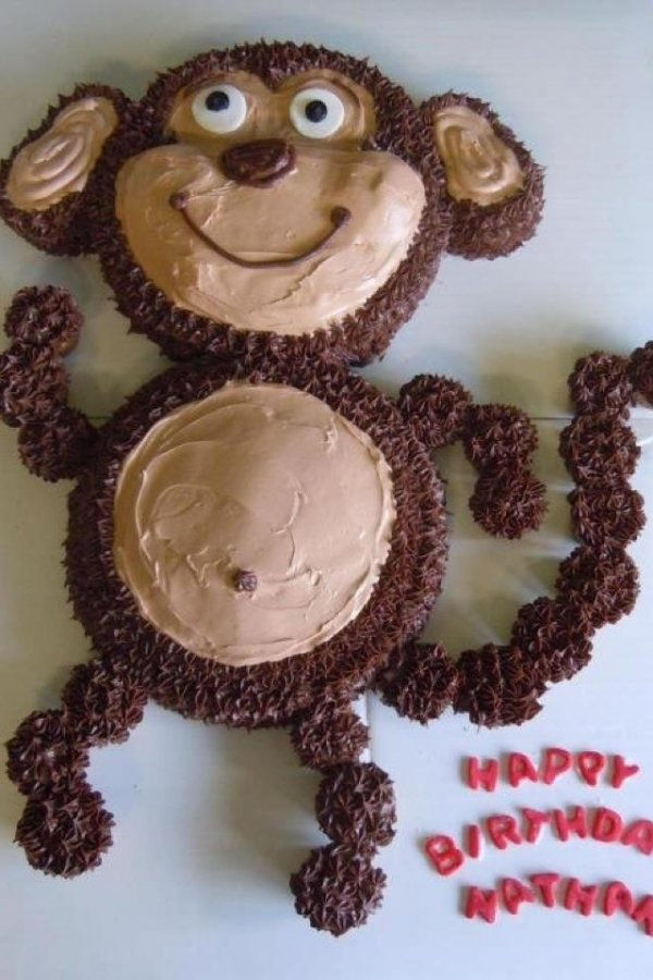 Monkey Cake Design Easy : Monkey Cake - 50 Easy Make Animal Cakes for Every Occasion
