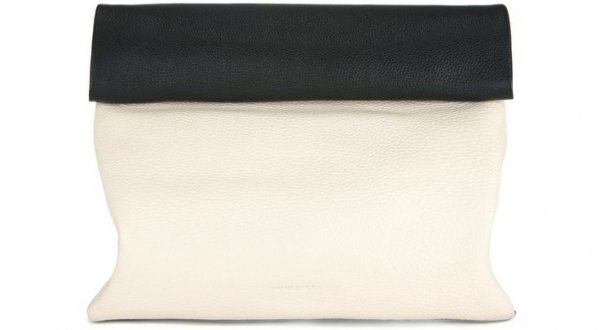 Two Tone Roll-Top Clutch