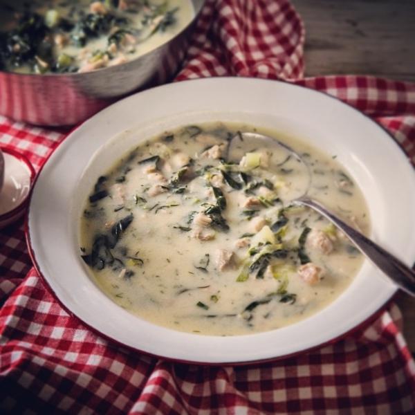 food, dish, soup, raita, produce,