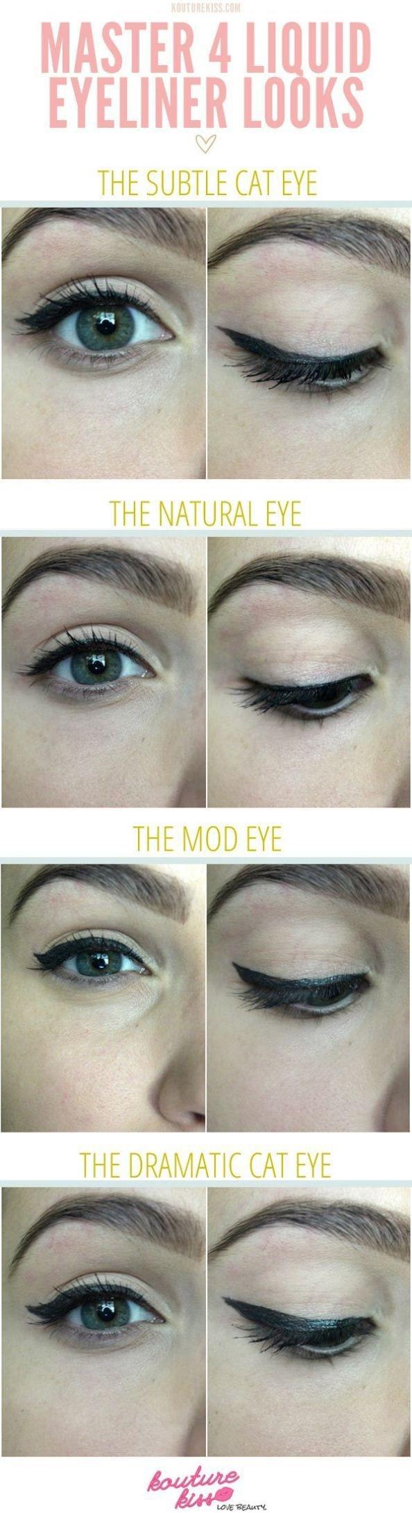 4 Liquid Eyeliner Looks