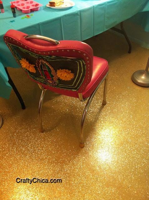 Glitterize a Floor