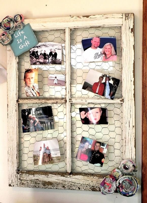 When Frame Meets Chicken Wire - 31 Ways to Use Old Windows and…