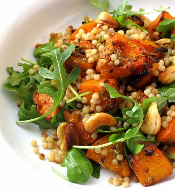 WARM COUSCOUS and ROASTED BUTTERNUT SQUASH with FENNEL, ROSEMARY and ...