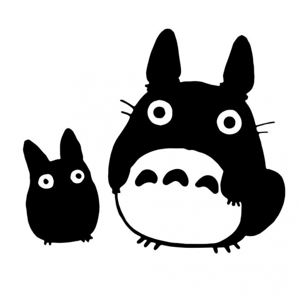 cartoon, black cat, illustration, drawing, sketch,