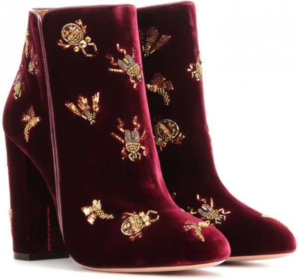 footwear, maroon, boot, leather, velvet,