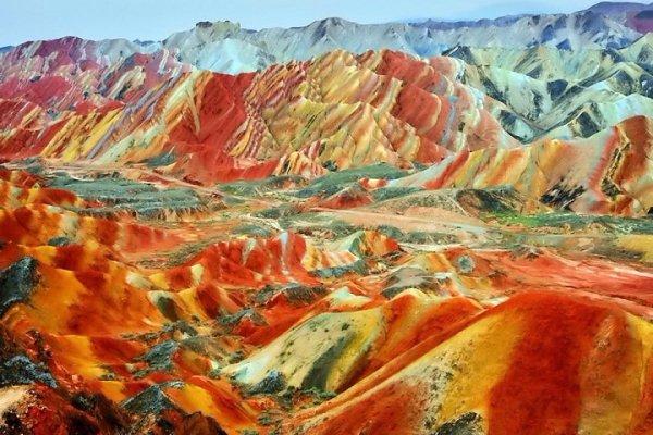 Danxia Landscape in China