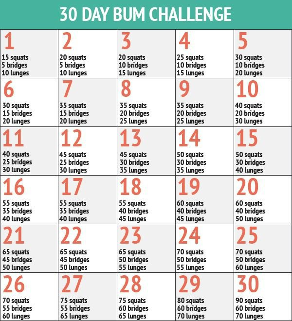 30 Day Bum Fitness Challenge