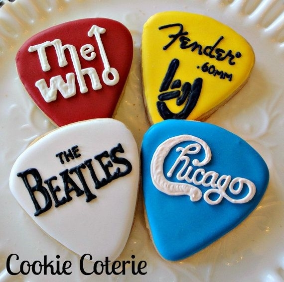 Concert Guitar Picks Guitar Pick Concert Cookies