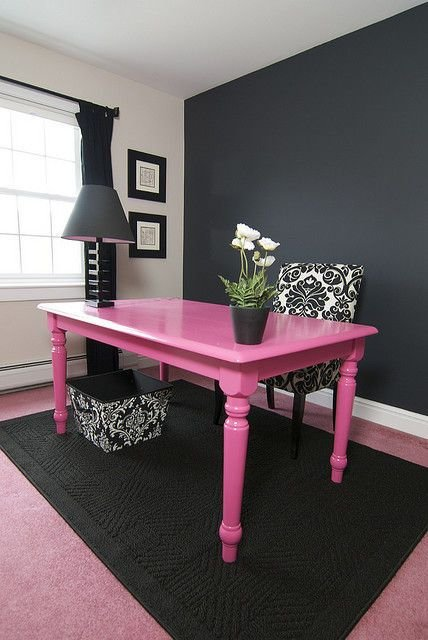 Hot Pink with Black and White is a Stunner