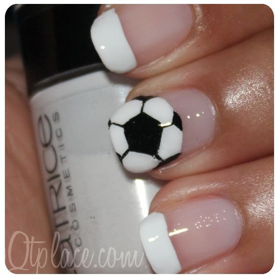 Soccer Designs - Soccer Designs - 36 Sports Nail Art Ideas That Will Make You…
