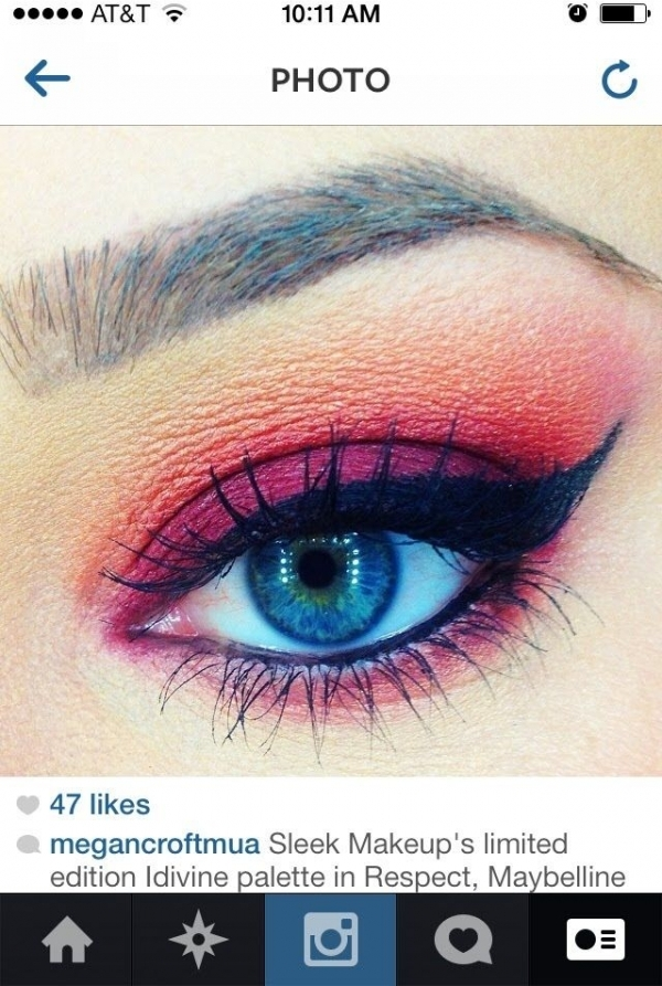Catching Fire Eye Makeup Look