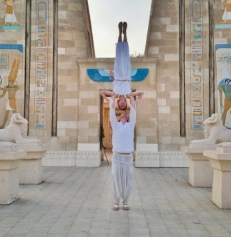 In Front of Ancient Ruins in Cairo, Egypt