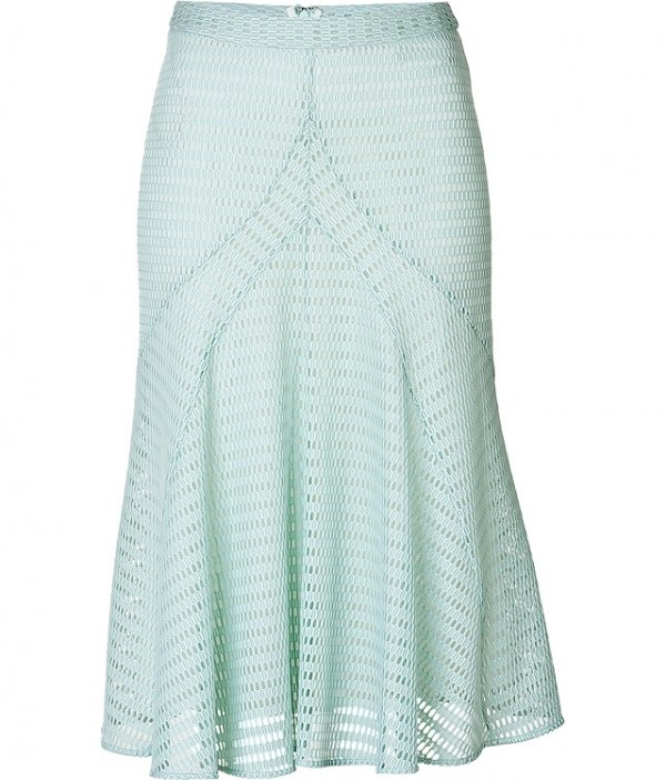 Derek Lam Mesh Flared Midi Skirt - 9 Pretty Pastel Midi Skirts to…