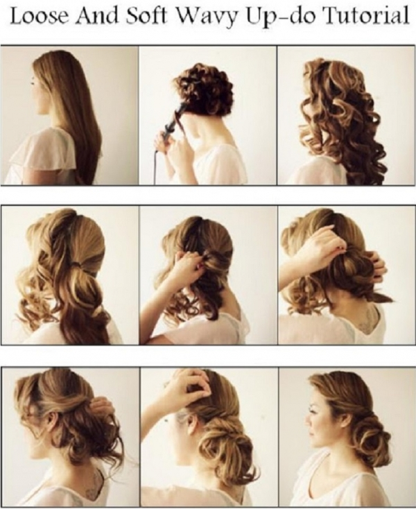Loose and Wavy Updo