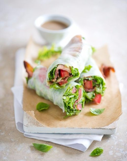 Spring Roll Sandwiches