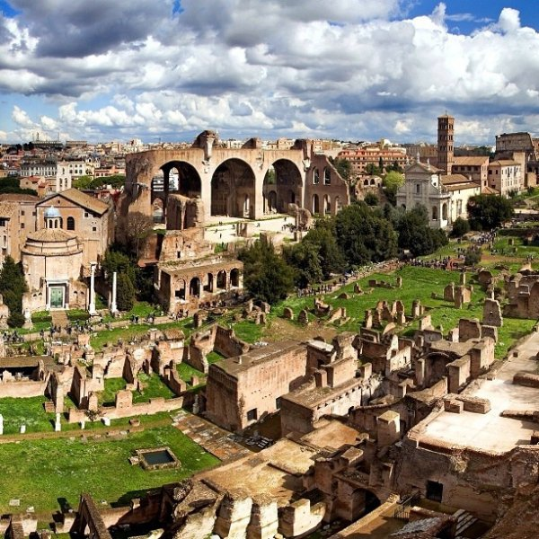 Ride a Vespa up Palatine Hill for an Amazing View of Rome