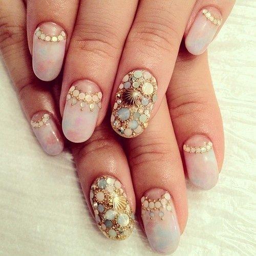 Mermaid nails 28 really cool sea creature nail art patterns mermaid nails prinsesfo Gallery