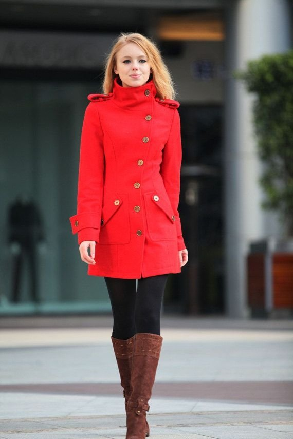 17. Red Cashmere Coat - 27 Lovely Winter Coats to Keep You Warm This…