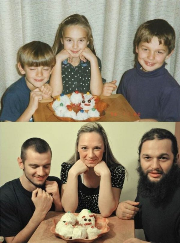 A Photo Recreated from Childhood
