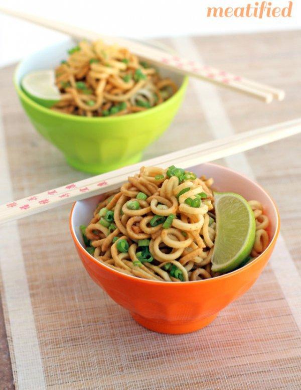 Ginger Garlic Parsnip Noodles