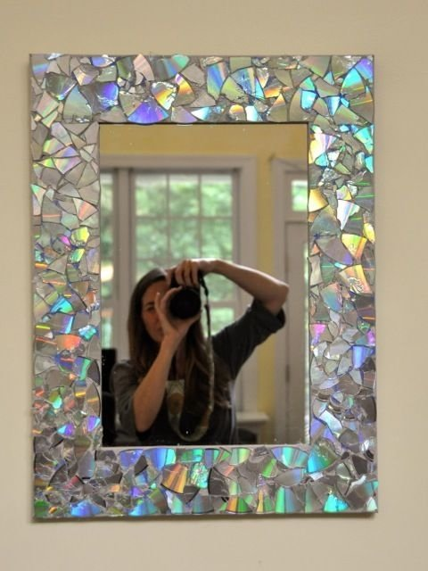 CD Mosaic Mirror