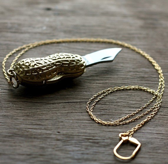 Peanut Pocket Knife Necklace